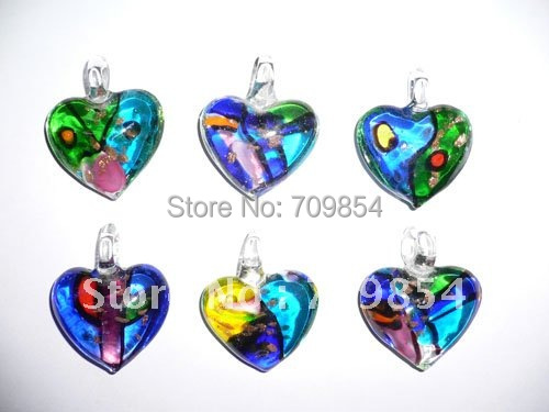 free shipping!!! 55pcs/lot new love Murano glass lampwork glas pendant fit earring bracelet  necklace jewelry findings