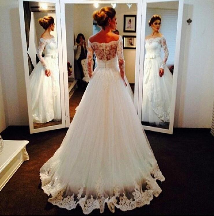 Свадебные платье с кружевом