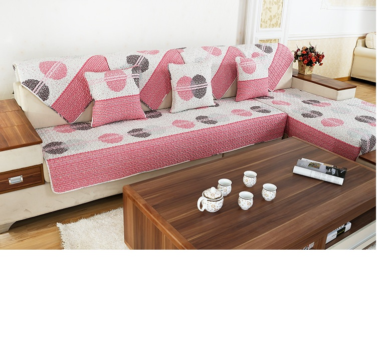 New Cotton Cloth Art Sofa Cover Contemporary And Contracted sStyle Soft And Comfortable Lovely Design(China (Mainland))