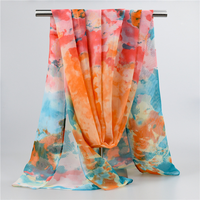 New hot fashion all-match sunscreen manufacturers selling Scarf Shawl scarves wholesale 100% polyester chiffon 160*48cm SMK-44(China (Mainland))