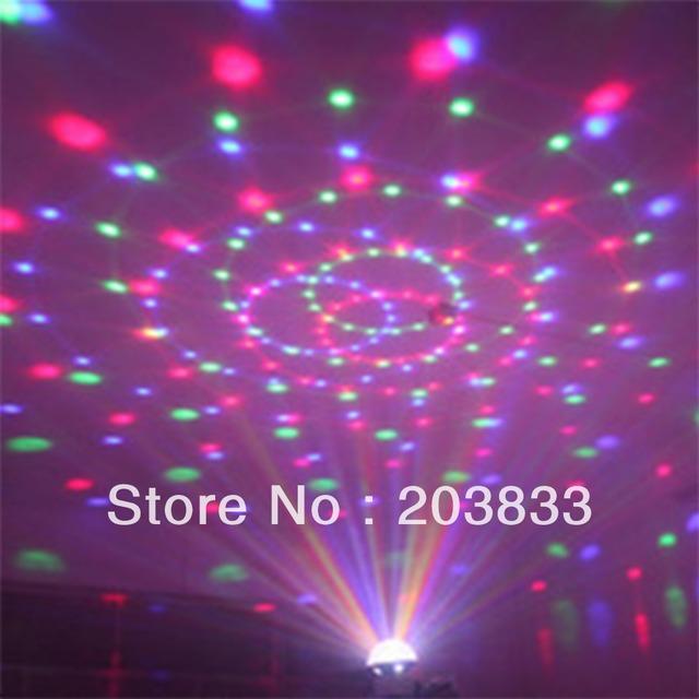 Digital RGB LED Crystal Mini Magic Ball USB SD MP3 Stage Effect Light Remote Control
