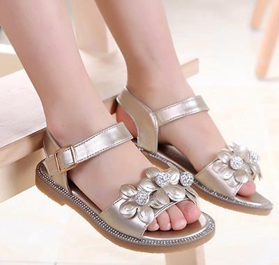 Girls princess flower sandals 2016 childrens fashion leather summer elsa mini melissa shoes kids chaussure enfants fille 729b<br><br>Aliexpress