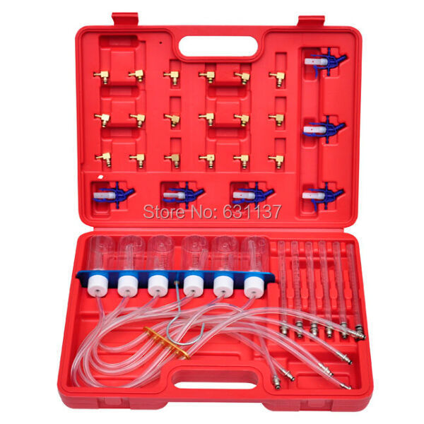 Diesel Injector Common Rail Flow Meter Tester Diagnostic Tool With 24 Adaptors(China (Mainland))