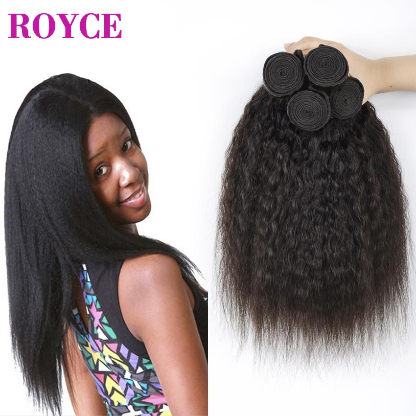 Mongolian Kinky Straight Human Hair Weave Virgin Hair Coarse Yaki Cheap Brazilian Italian Yaki Extensions Grace Hair Products