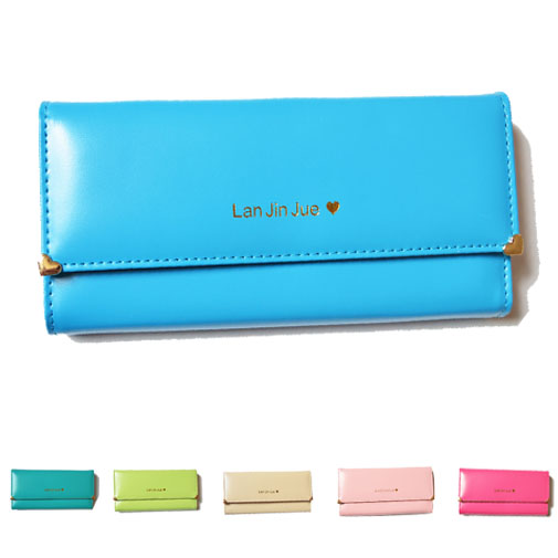 2015 Pu Leather Women Wallets Desigual Solid Vintage Birthday Lady Purse Fashion New Hasp Long Wallets For Women(China (Mainland))