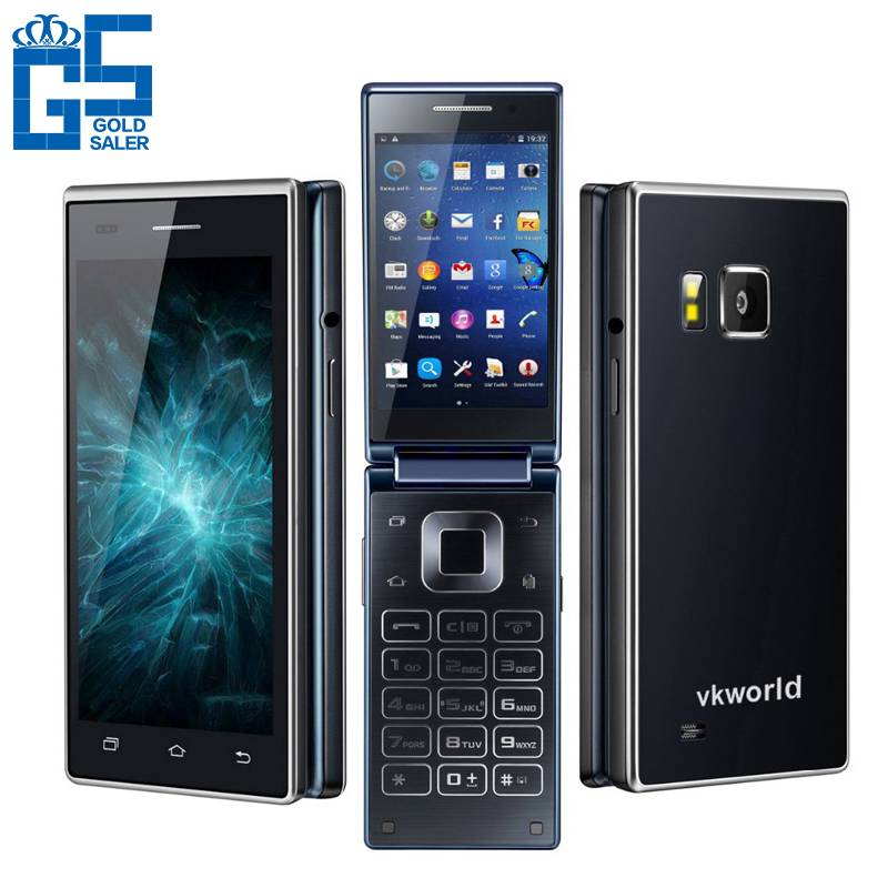 "Presale Original Vkworld T2 4.0"" 3G WCDMA Flip Mobile Phone Android 5.1 MTK6580 Quad Core 1GB RAM 8GB ROM 13.0MP 2050mAh GPS(China (Mainland))"
