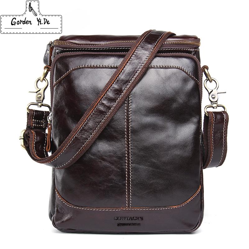 Men's Cow Leather Bags Fashion Brand Designer Handbags Shoulder Vintage Retro Bags Men Messenger Bags Genuine Leather Briefcase(China (Mainland))