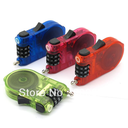 New Antivol Avec 3 Digits Flexible Combination Number Lock For motorcycle or bike Free shipping(China (Mainland))