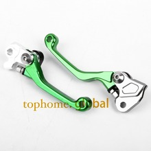 New One Pair Top quality CNC Pivot Brake Clutch levers Set For KAWASAKI KX85 2001-2014 2002 2003 2004 2005 2006 2007 2008 Green