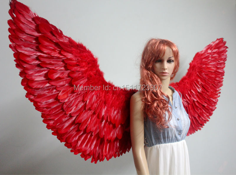 big feather wings, w-ysk 160*80cm wings of angels, for cosplay stage performances, models on the catwalk for photo,(China (Mainland))