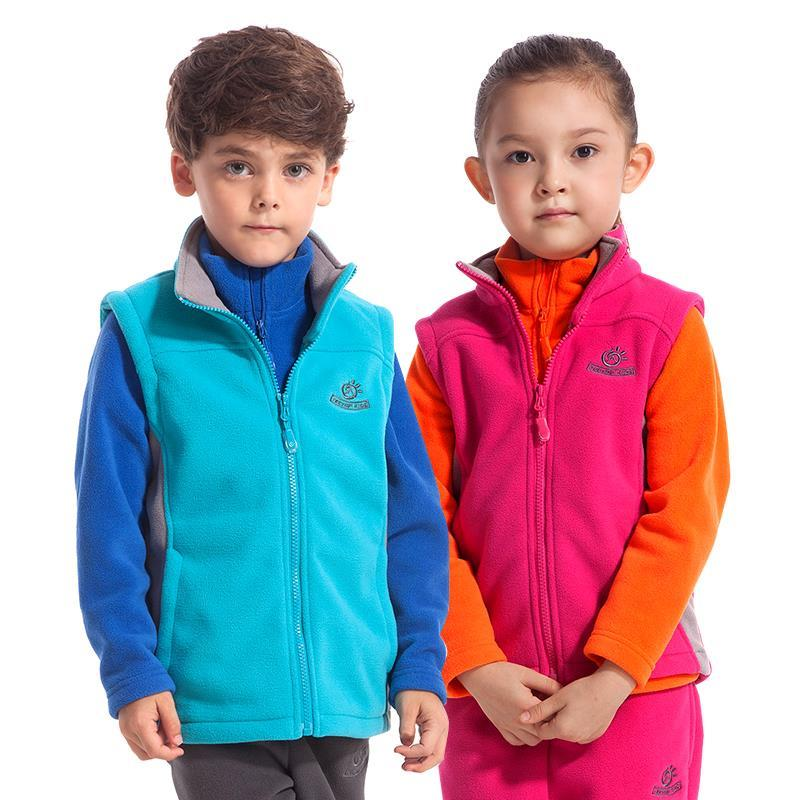 Tectop 2015 New Arrival Spring Children Vest Solid Windproof Fleece Girls Boys Outwears Sports Kid's Clothing Casual Coats,4058(China (Mainland))