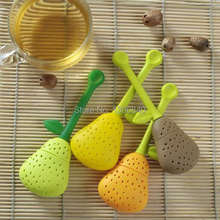 10pcs Free Shipping CuteTeacup Teapot Strawberry Pear Silicone Tea Strainer Infuser Filter Bag wstTe