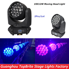 Buy Free Shipping Hot Sales 2Pcs/Lot 19x12W LED Beam Wash Moving Head Light With DMX512 For Professional Stage Dj Laser Projector for $780.00 in AliExpress store