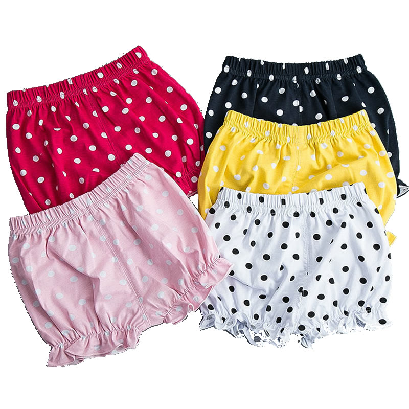 2016 Baby Girl Newborn Child Children Cotton Summer Polka Dot Casual Girls Short Pants Bloomers Shorts Diaper Cover Panties(China (Mainland))