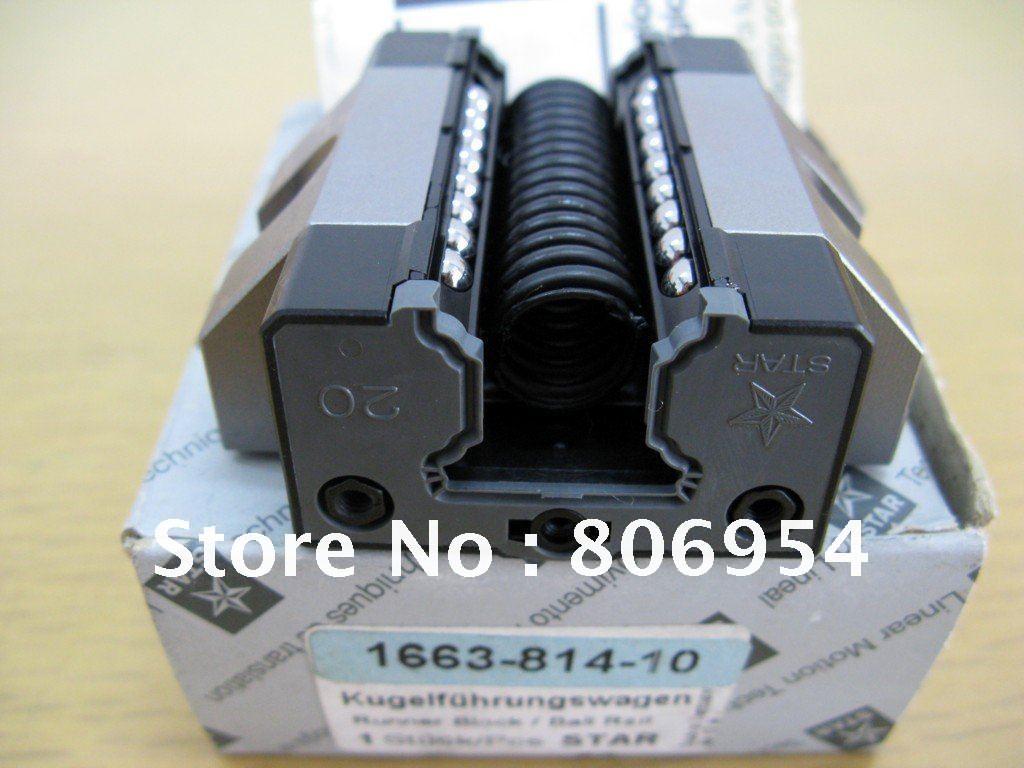 R166381410 / 1663-814-10 Rexroth Star Runner Block Ball Carriage Linear Bearing(China (Mainland))