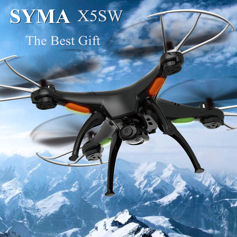 Hot Sale Syma X5SW Explorers 2 HD Camera 2.4GHz 4 Channel WiFi FPV RC Quadcopter 6 Axis 3D Flip Flight UFO RTF Black(China (Mainland))