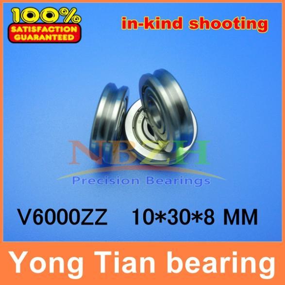 Outer ring V grooved straightener guide wheel bearings A1001 2Z V6000ZZ V90 10*30*8 mm pulley bearings V groove width 3.5 mm(China (Mainland))
