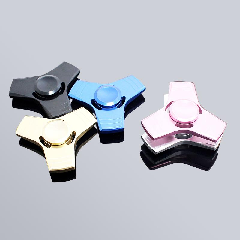 2017 New EDC Tri-Spinner Fidget Toys Pattern Hand Spinner Metal Fidget Spinner and ADHD Adults Children Educational Toys Hobbies