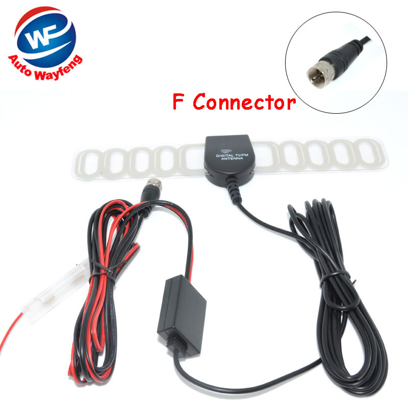 F Connector Car DVB-T ISDB-T Digital TV Antenna Active TV Antenna with Amplifier special, F connector for Europe Car Antenna<br><br>Aliexpress