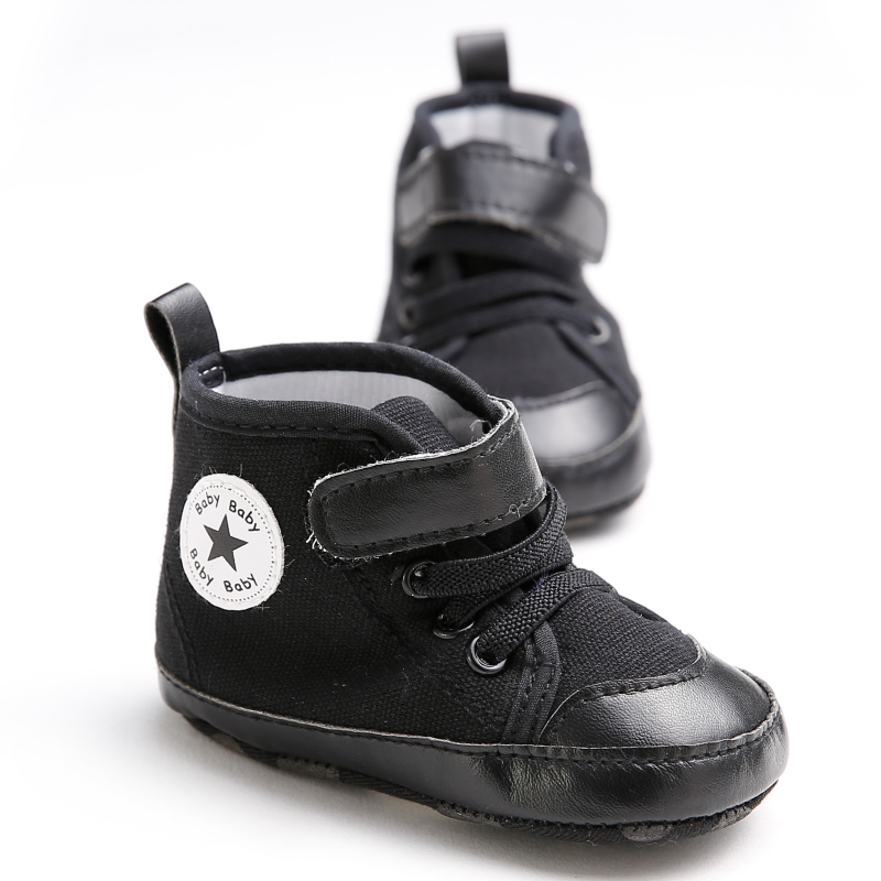 Cheap Black Baby Shoes Brand Girls Infant Children Sport Sneakers Classic Canvas Star Kids Boots Toddler Walker Boy Bebe Sapatos(China (Mainland))