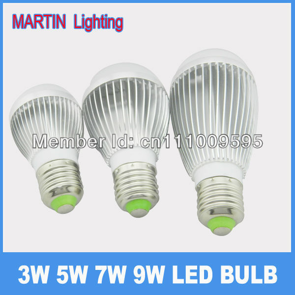 led ball bulb lamp 3w 5w 7w 9W energy saving bulb smd light beads bright e27 screw-mount light source lamp