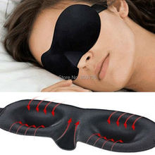 1X Travel Rest 3D Sponge Eye MASK Black Sleeping Eye Mask Cover for health care to shield the light Gift Free Ship(China (Mainland))