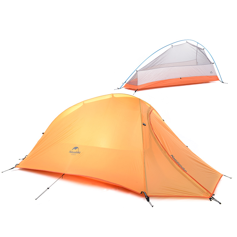 1 Person Tents : Naturehike person tent double layer waterproof dome