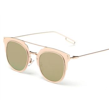 2015 новых женщин солнцезащитные очки для женщин солнцезащитные очки дизайнер винтаж рама из нержавеющей стали летний стиль подлинная высокое качество