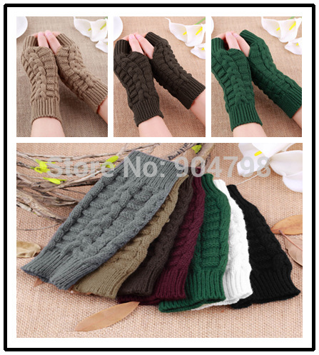 Гаджет  Fashion Unisex Men Women Knitted Fingerless Winter Gloves Soft Warm Mitten None Одежда и аксессуары