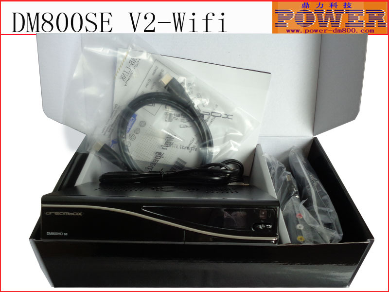 2 pcs TV Decoder,satellite TV receiver DM800se V2 with 300M wifi ,The DM800se-V2 support DVB-S2 / S, and free shipping via DHL(Hong Kong)