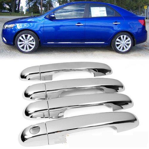 Kia Forte Cerato 2009 2010 2011 Sedan Mirror Chrome Side Door Handle Covers Trims - Auto Parts & Accessories store