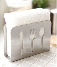 Free shipping New 2013 Zakka Upscale IKEA style creativity stainless steel tissue box Napkin folder  Home decoration(China (Mainland))