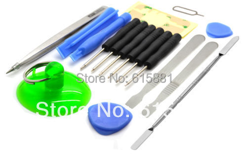 New 17 Pcs Repair Pry Tool kit SCREWDRIVER SET for iPhone iPad iPod PSP NDS for HTC/SONY Mobile Phones(China (Mainland))