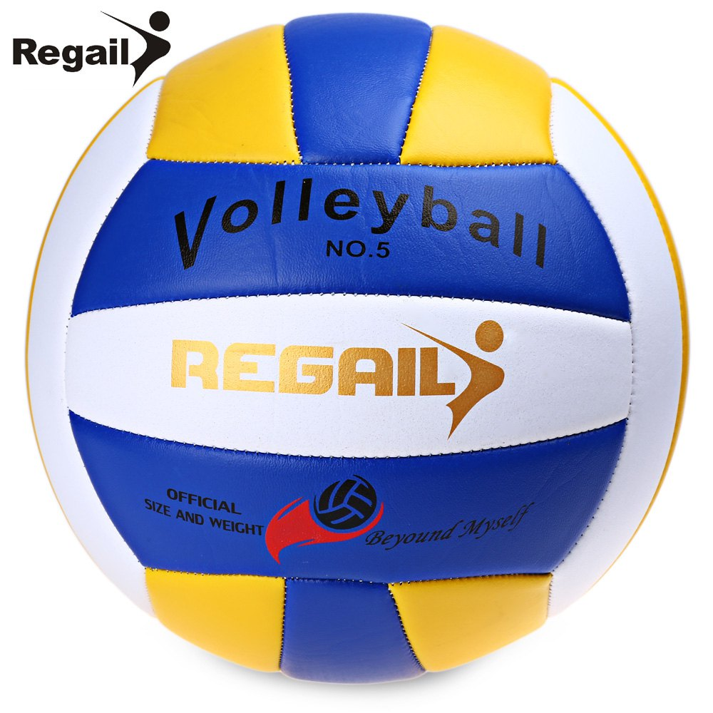 Regail Official Size 5 Weight Volleyball Durable PU Leather Beach Volleyball Outdoor Indoor Training Competition Handball(China (Mainland))