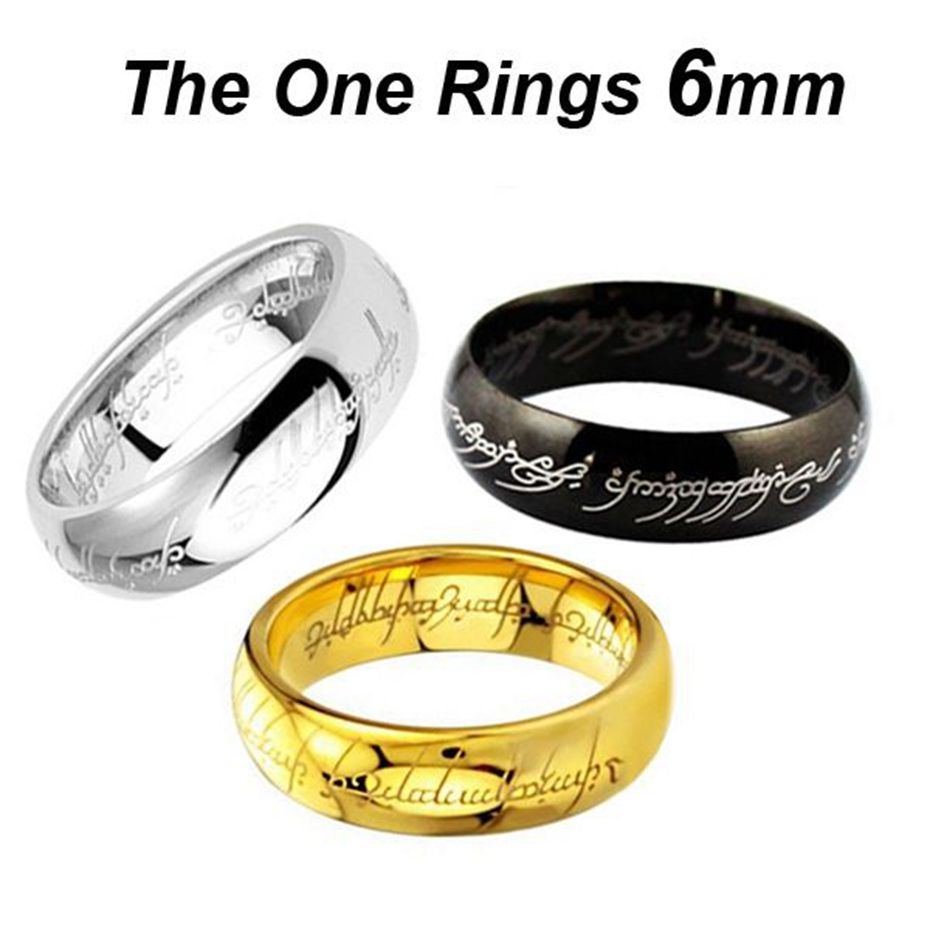 fashion midi rings steel one ring of power silver plated the lord of ring lovers wedding - The One Ring Wedding Band