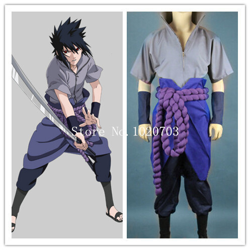 Naruto Sasuke Uchiha Cosplay Costume Anysize(China (Mainland))
