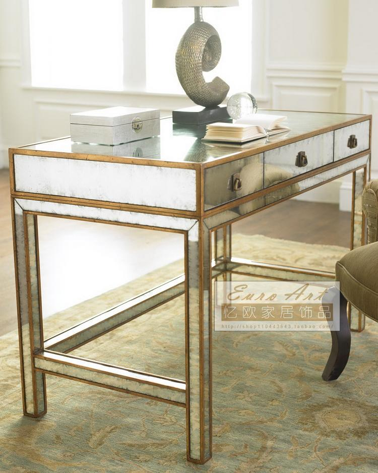 Recalling American country European mirror desk bedroom furniture desk computer desk to do the old retro neoclassical DD007(China (Mainland))
