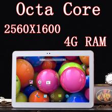 10 inch 8 core Octa Core 2560X1600 DDR 4GB ram 32GB 3G Dual sim card 13MP Bluetooth Tablet PC Tablets PCS Android4.4 7 8 9