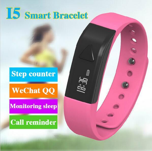 Original iwown I5 Smart Bracelet Bluetooth Activity Wristband Intelligent Sports Watch Step Gauge Sleep Track Caller ID display<br><br>Aliexpress