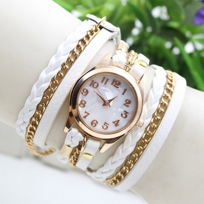 Blueness Loom Band Bracelet Watches For Women Wristwatch Luxury Brand Ladies Bohemian Reloj Mujer  2015 Casual Watch WF019<br><br>Aliexpress