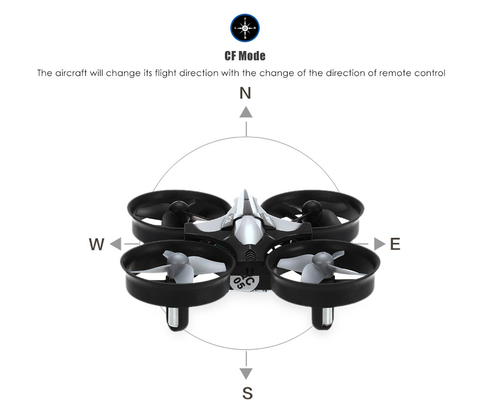 JJRC H36 RC Drone Dron 2.4GHz 4CH 6 Axis Gyro RC Quadcopter with Headless Mode Speed Switch Drones LED Light Flying Helicopter (5)