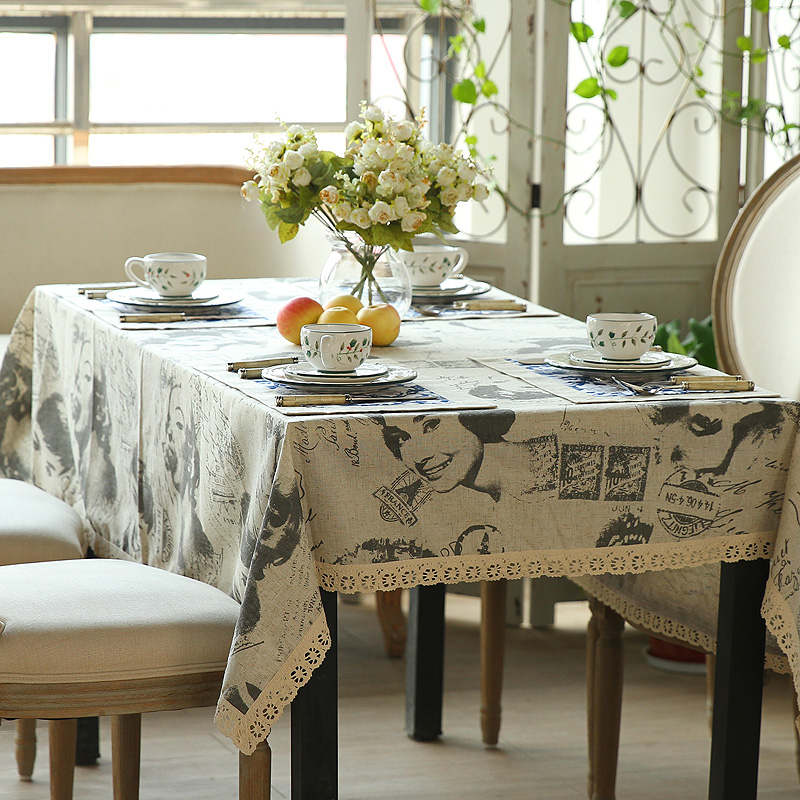The new classical Home Furnishing tablecloth lace table table cloth art Hepburn Vintage linen tablecloths shipping(China (Mainland))