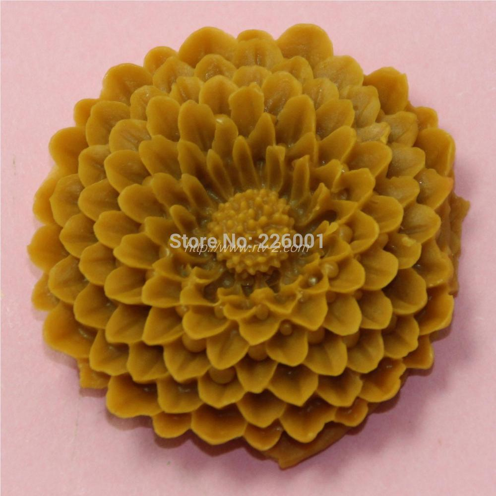 Cake Decoration Molds : chrysanthemum-Flower-silicone-mold-Fondant-Cake-Decorating ...