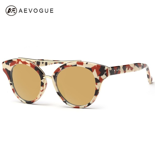 Aevogue очки женщины летний стиль солнцезащитные очки с двойными бридж конструктор с новым свобода Gafas óculos De Sol UV400 AE0314