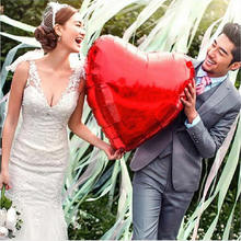 Buy 75cm red heart shap foil air balloons wedding party say love decorations marriage ballon supplies for $1.15 in AliExpress store