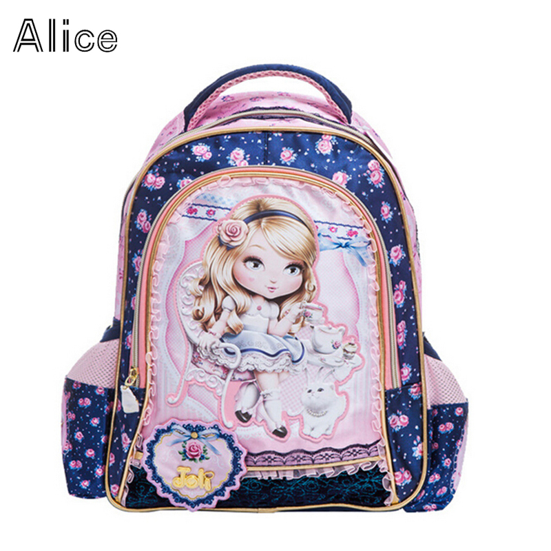 New arrival Fashion  cartoon Girls backpack kid school bags blue bag backpacks student lace  lovely bag<br><br>Aliexpress