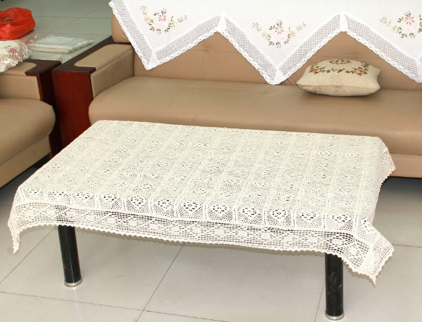 Luxury 6 designs multi-function size 150*220cm rectangle shape tea/coffee table cloth desk/chair/TV pad crocheted cover(China (Mainland))