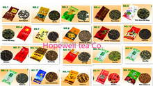 Free shipping 20 Different Flavors Famous Chinese Tea, Including Oolong , Puer , Black tea, Green tea, Herbal , Flower tea+ gift