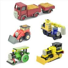 6pcs/lot Thomas and Friends AollyTRAIN&CAR,Thomas train Metal toys Thomas Tank Engine toys for children-George,Lorry,Jack,Byron(China (Mainland))