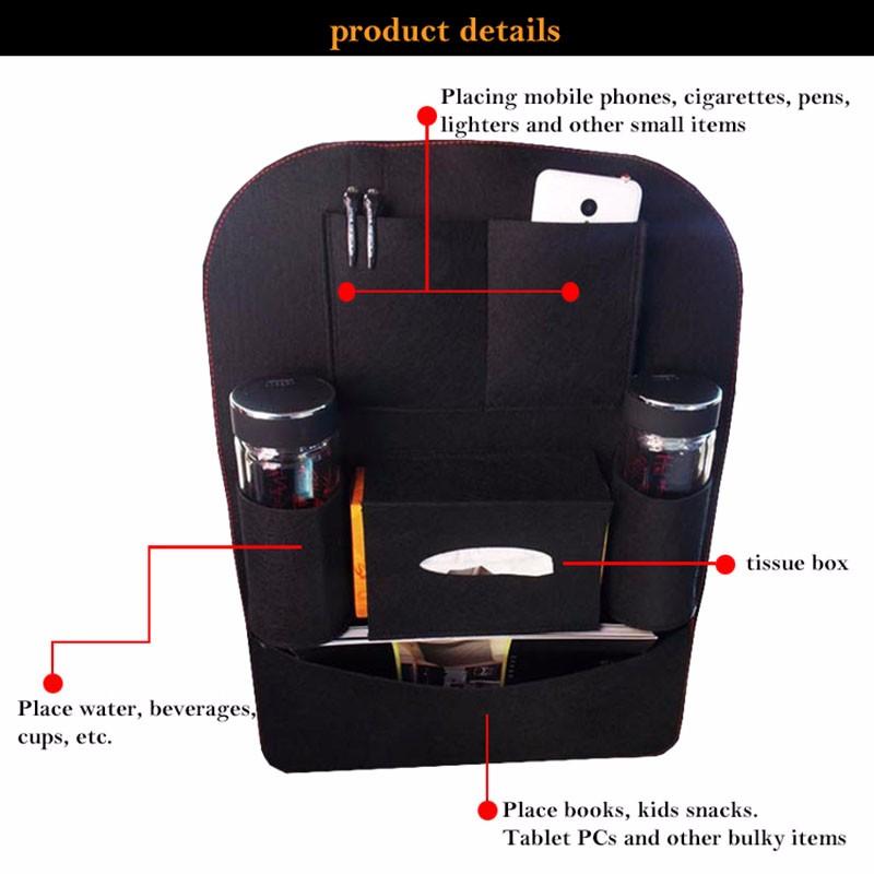automotive pouch car felt pouch car seat back storage bag debris bag felt pouch pouch pouch